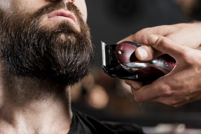 recortar barba con maquina