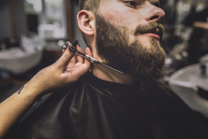 corte de barba larga