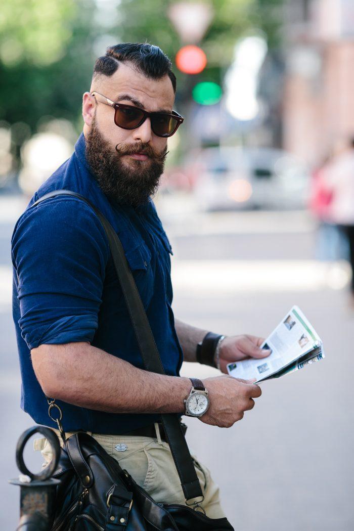 Barba hipster urbana
