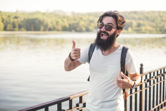 Barba hipster rural