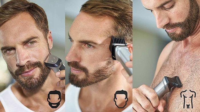 afeitar barba con Afeitadora Philips
