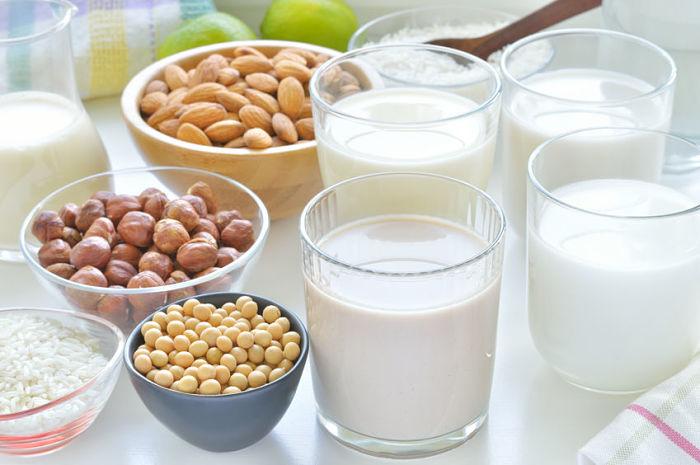 leches vegetales preparadas con frutos secos