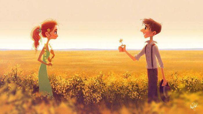 Dibujo hombre y mujer, apreciar la vida