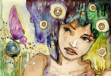 Dibujo mujer con libertad emocional