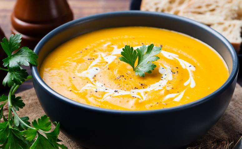 Receta de sopa de calabaza baja en carbohidratos
