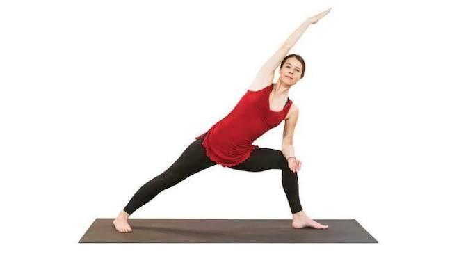 sesión de yoga Utthita Parsvakonasana