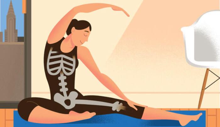 sesión de yoga mejorar densidad osea