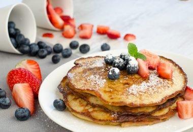 Hotcakes de harina de almendras sin gluten para diabéticos
