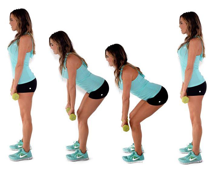 Levantar peso muerto para fortalecer las rodillas