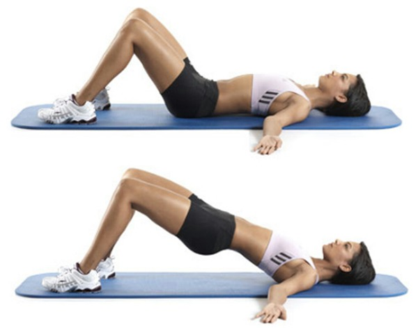 rutina de ejercicios inclinaciones pélvicas