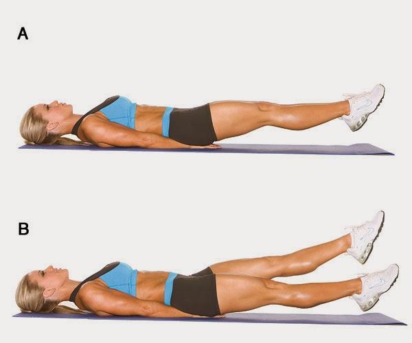 rutina de ejercicios piernas en tijeras
