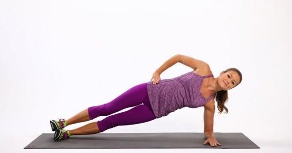 rutina de ejercicios plank lateral