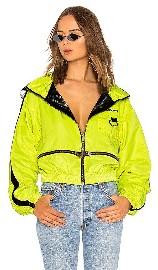 chaqueta neon amarillo