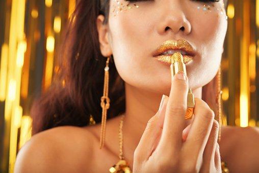 cosméticos labial metálico
