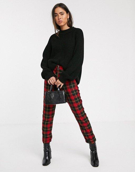 outfits para mujeres pantalón a cuadros
