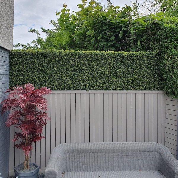 paneles divisorios verde artificial