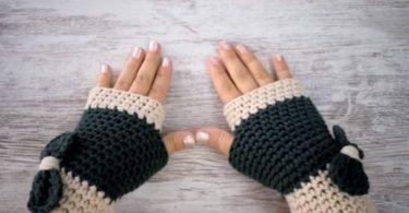 Tejiendo mitones o guantes al crochet paso a paso