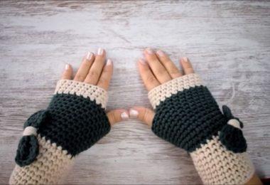 Cómo tejer mitones o guantes al crochet paso a paso