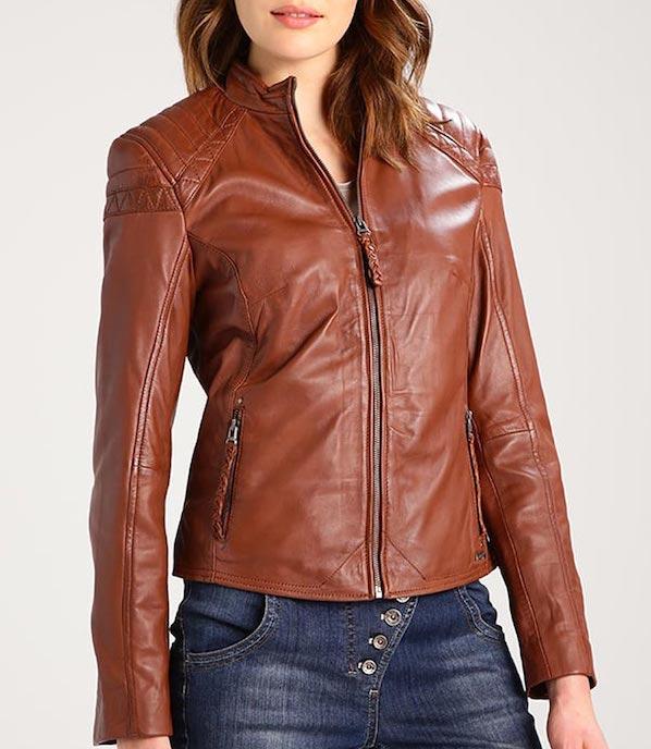 tendencias de moda chaqueta de cuero