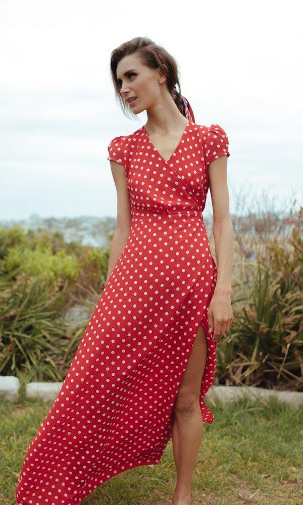 tendencias de moda vestido con lunares