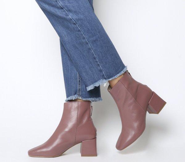 tendencias de moda zapatos con tacón cuadraddo