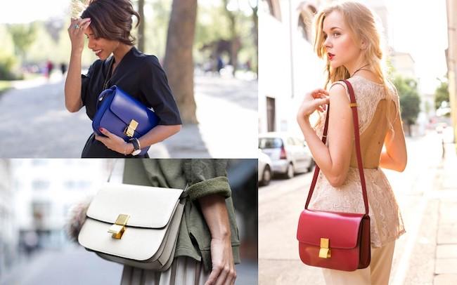 mujeres bajitas con bolsos clásicos