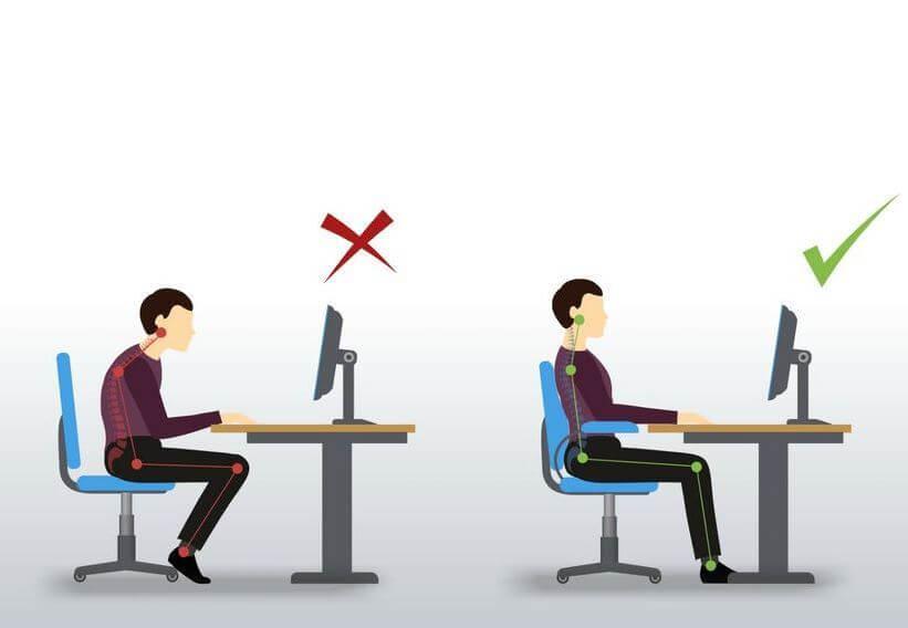 Aprende cómo sentarte de la forma correcta