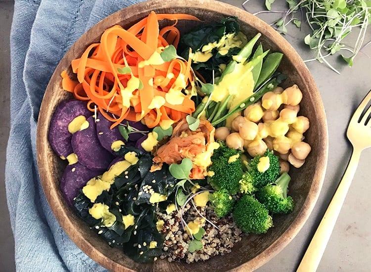 Platillo de comida en la dieta macrobiotica