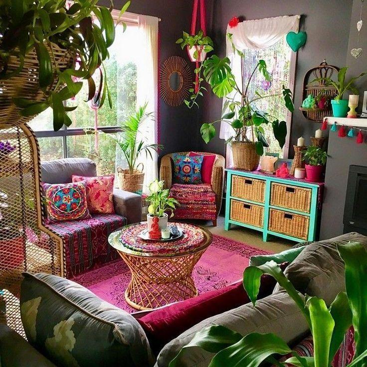 decoración bohemia muebles