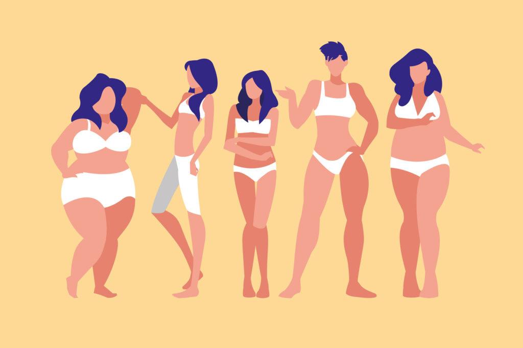 Ilustración diferentes tipos de cuerpos