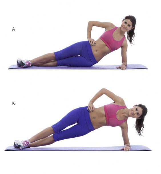 variaciones de plank con caída de cadera