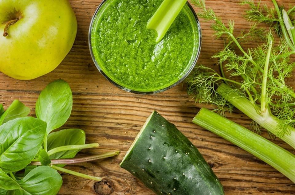 Batido verde para desintoxicar el cuerpo