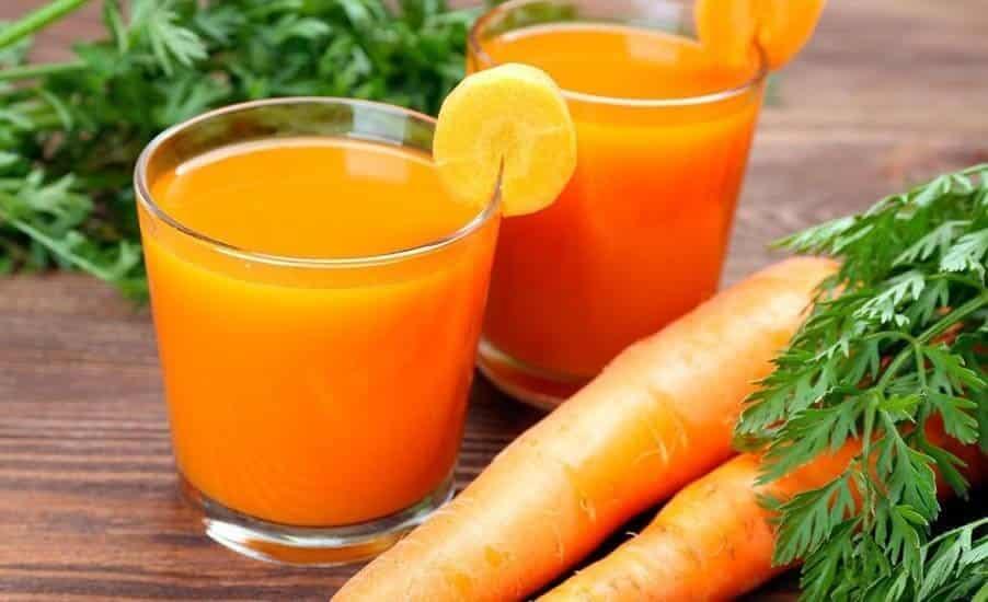 Jugo de zanahorias para retrasar el envejecimiento