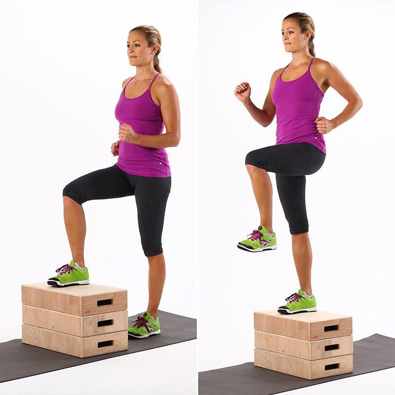 Mujer realizando Step Ups