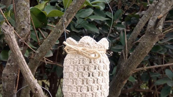 Descubre cómo vestir frascos a crochet (Portavelas) 1