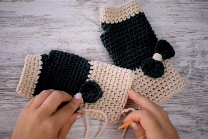 Cómo hacer guantes a crochet paso a paso 8