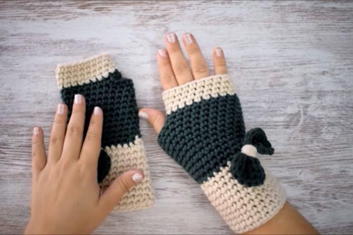 Cómo hacer guantes a crochet paso a paso 9
