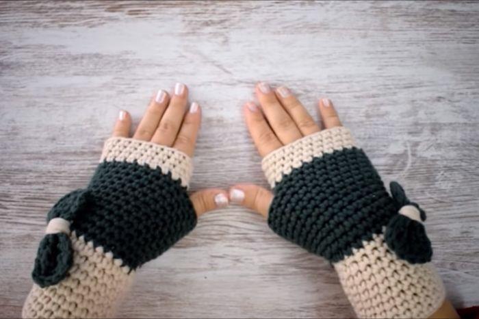 Cómo hacer guantes a crochet paso a paso 13