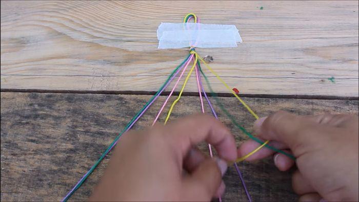 Cómo hacer pulseras con hilo encerado paso a paso 6
