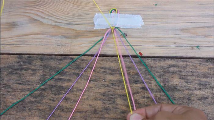 Cómo hacer pulseras con hilo encerado paso a paso 7