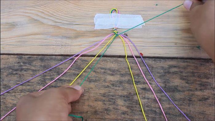 Cómo hacer pulseras con hilo encerado paso a paso 8