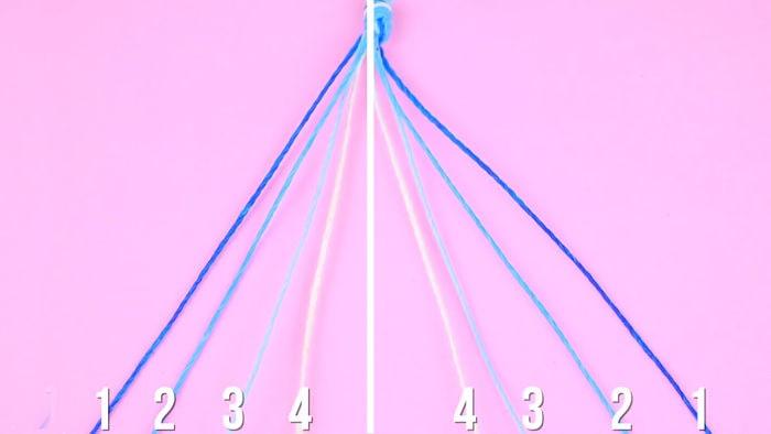 Cómo hacer pulseras con hilo encerado paso a paso 4