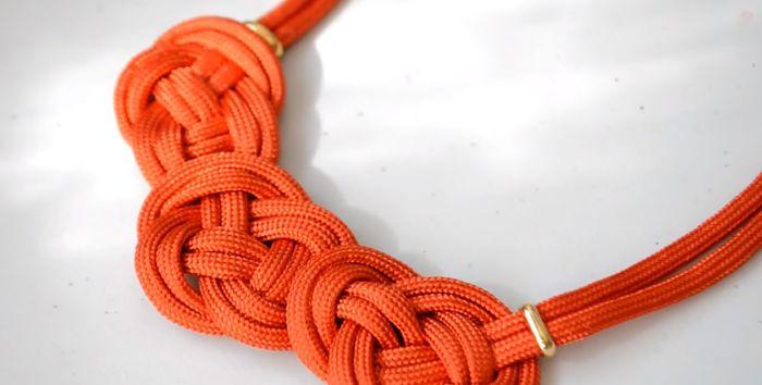 Mira cómo hacer un collar de nudos celta paso a paso 17