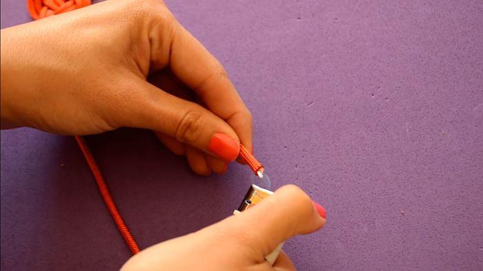 Mira cómo hacer un collar de nudos celta paso a paso 13